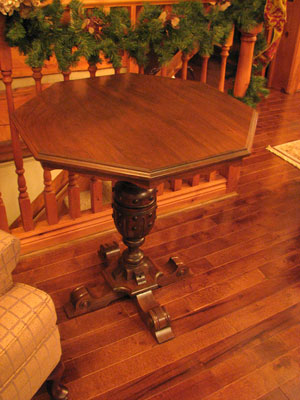 Black Walnut Octagonal Side Table