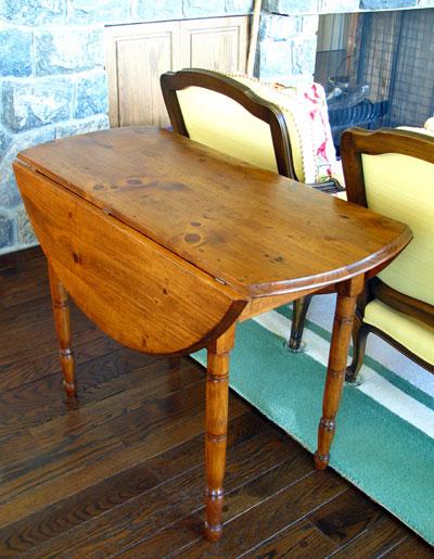 Pine and Oak Drop Leaf Table