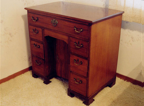 Restoration of Mahogany Knee-Hole Desk (Circa 1670)
