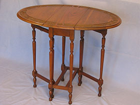 Antique Walnut Drop Leaf Table with Gate Legs