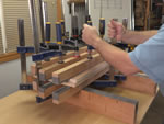 Gluing Large Surfaces with Clamps